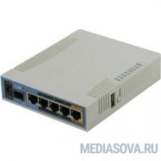 MikroTik RB962UiGS-5HacT2HnT hAP ac Роутер 2.4+5ГГц, 802.11a/b/g/n/ac, 5x Ethernet 1G, 1x SFP