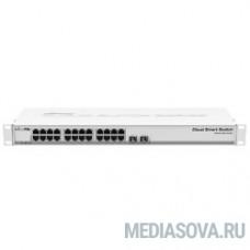 MikroTik CSS326-24G-2S+RM Коммутатор 24х Gigabit RJ45, 2х SFP+
