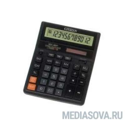 Citizen SDC-888TII черный настольный, 12 разрядн., дв. пит., 2 памяти, коррект. [17241]
