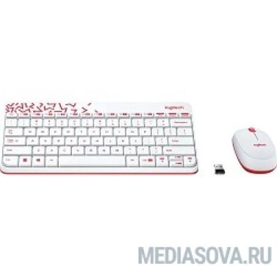 920-008212 Logitech Wireless Combo MK 240 Nano White-red