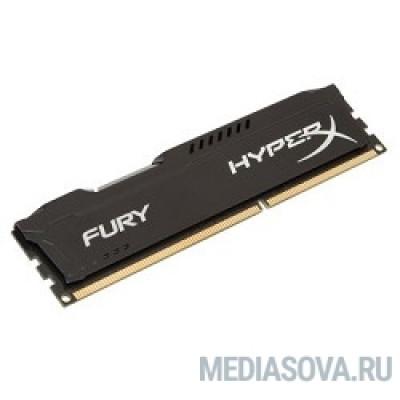 Оперативная память Kingston DDR3 DIMM 8GB (PC3-12800) 1600MHz HX316C10FB/8  HyperX Fury Series CL10 Black
