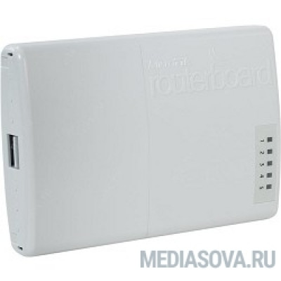 MikroTik RB750P-PBr2 Маршрутизатор PowerBox with 650MHz CPU, 64MB RAM, 5xLAN (four with PoE out), RouterOS L4, outdoor case, PSU, PoE, mounting set