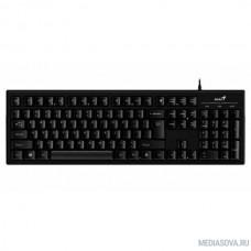 Genius Smart KB-101 Black классическая раскладная, SmartGenius, влагоустойчивая, клавиш 105, провод 1,5 м, USB [31300006411]
