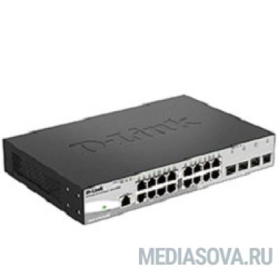 D-Link DGS-1210-20/F1A Настраиваемый коммутатор WebSmart с 16 портами 10/100/1000Base-T и 4 комбо-портами 100/1000Base-T/SFP