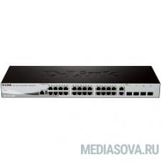 D-Link DES-1210-28/ME/B3B Управляемый коммутатор 2 уровня с 24 портами 10/100Base-TX, 2 портами 100/1000Base-X SFP и 2 комбо-портами 100/1000Base-T/SFP