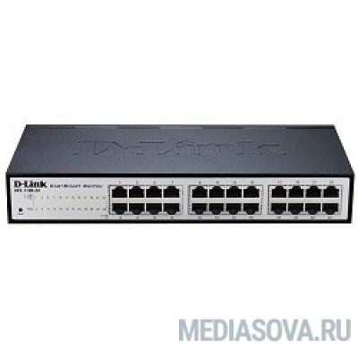 D-Link DES-1100-24/A2A Настраиваемый компактный коммутатор EasySmart с 24 портами 10/100Base-TX