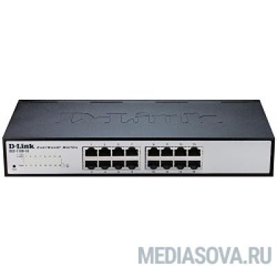 D-Link DES-1100-16/A2A Настраиваемый компактный коммутатор EasySmart с 16 портами 10/100Base-TX