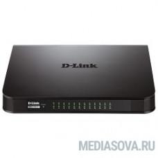 D-Link DES-1024A/E1B Неуправляемый коммутатор с 24 портами 10/100Base-TX и функцией энергосбережения