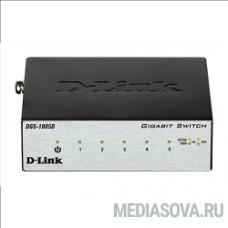 D-Link DGS-1005D/I3A Неуправляемый коммутатор с 5 портами 10/100/1000Base-T и функцией энергосбережения