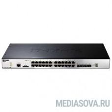 D-Link DGS-3120-24TC/B1ARI PROJ Управляемый коммутатор 3 уровня с 20 портами 10/100/1000Base-T + 4 комбо-портами 10/100/1000Base-T/SFP + 2 портами 10G c разъемом CX4