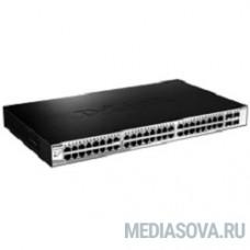D-Link DGS-1210-52/ME/A1A Управляемый коммутатор 2 уровня с 48 портами 10/100/1000Base-T и 4 портами 1000Base-X SFP