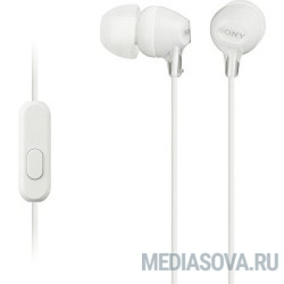 SONY MDR-EX15AP, белый Наушники с гарнитурой