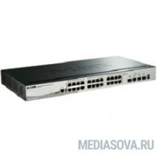 D-Link DGS-1510-28X/A1A PROJ Управляемый стекируемый коммутатор SmartPro с 24 портами 10/100/1000Base-T и 4 портами 10GBase-X SFP+