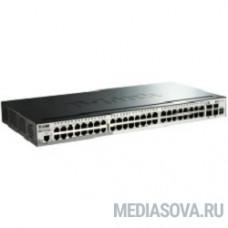 D-Link DGS-1510-52X/A1A/A2A PROJ Управляемый стекируемый коммутатор SmartPro с 48 портами 10/100/1000Base-T и 4 портами 10GBase-X SFP+