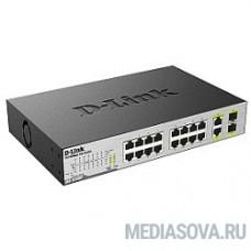 D-Link DES-1018MP/A1A PROJ Неуправляемый коммутатор с 16 портами 10/100Base-TX, 2 комбо-портами 100/1000Base-T/SFP и функцией энергосбережения (16 портов с поддержкой PoE 802.3af (15,4 Вт)