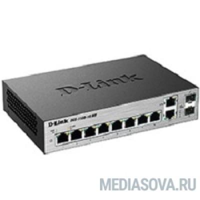 D-Link DGS-1100-10/ME/A1A/A2A Настраиваемый коммутатор 2 уровня с 8 портами 10/100/1000Base-T и 2 комбо-портами 100/1000Base-T/SFP
