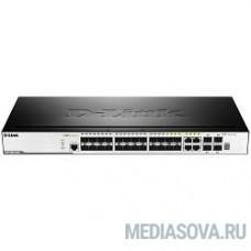 D-Link DGS-3000-28SC/A1A Управляемый стекируемый коммутатор 2 уровня с 20 портами 100/1000Base-X SFP, 4 комбо-портами 10/100/1000Base-T/SFP и 4 портами 10GBase-X SFP+
