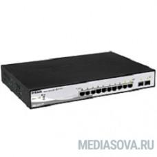 D-Link DGS-1210-10P/ME/A1A Управляемый коммутатор 2 уровня с 8 портами 10/100/1000Base-T с поддержкой PoE и 2 портами 1000Base-X SFP