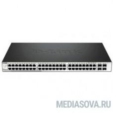 D-Link DGS-1210-52P/ME/B1A PROJ Управляемый коммутатор 2 уровня с 48 портами 10/100/1000Base-T и 4 портами 1000Base-X SFP (порты 1-8 с поддержкой PoE 802.3af/802.3at (30 Вт)