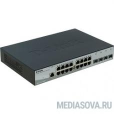 D-Link DGS-1210-20/ME/A1A Управляемый коммутатор 2 уровня с 16 портами 10/100/1000Base-T и 4 портами 1000Base-X SFP
