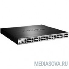 D-Link DGS-1210-52MP/ME/B1A PROJ Управляемый коммутатор 2 уровня с 48 портами 10/100/1000Base-T с поддержкой PoE и 4 портами 1000Base-X SFP