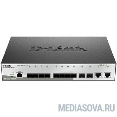 D-Link DGS-1210-12TS/ME/B1A Управляемый коммутатор 2 уровня с 10 портами 1000Base-X SFP и 2 портами 10/100/1000Base-T