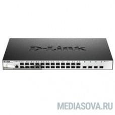 D-Link DGS-1210-28XS/ME/B1A Управляемый коммутатор 2 уровня с 24 портами 100/1000Base-X SFP и 4 портами 10GBase-X SFP+