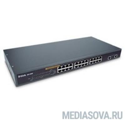 D-Link DES-1026G/E1A Неуправляемый коммутатор с 24 портами 10/100Base-TX и 2 комбо-портами 100/1000Base-T/SFP