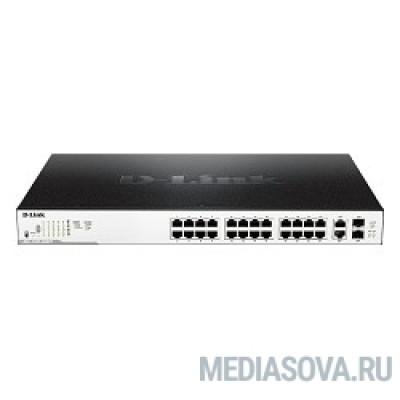 D-Link DGS-1100-26MPP/B1A/C1A Настраиваемый коммутатор EasySmart с 24 портами 10/100/1000Base-T и 2 комбо-портами 1000Base-T/SFP (порты 1 – 24 с поддержкой PoE 802.3af/802.3at (30 Вт)