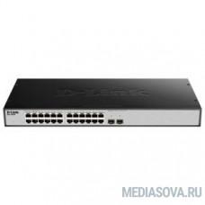D-Link DGS-1026X/A1A Неуправляемый коммутатор с 24 портами 10/100/1000Base-T, 2 портами 10GBase-X SFP+, функцией энергосбережения и поддержкой QoS