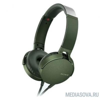 SONY MDRXB550APG.E зеленый