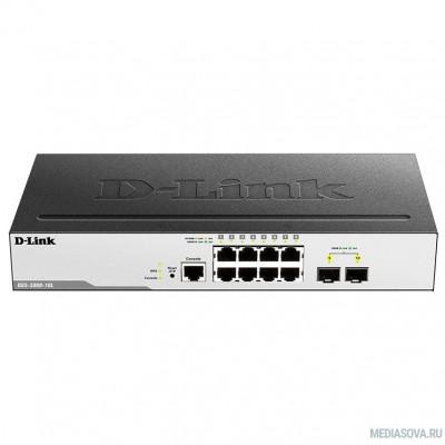 D-Link DGS-3000-10L/B1A Управляемый коммутатор 2 уровня с 8 портами 10/100/1000Base-T и 2 портами 1000Base-X SFP