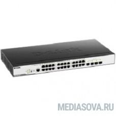 D-Link DGS-3000-28LP/B1A Управляемый коммутатор 2 уровня с 24 портами 10/100/1000Base-T и 4 портами 1000Base-X SFP (24 порта с поддержкой PoE 802.3af/802.3at (30 Вт), PoE-бюджет 193 Вт)