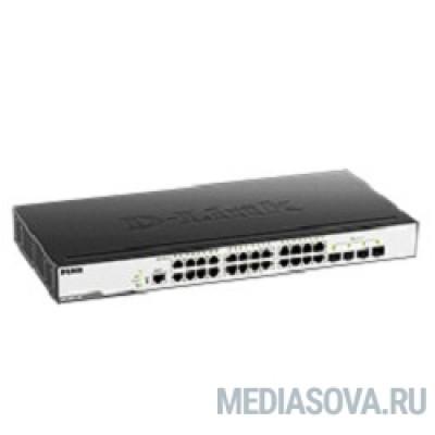 D-Link DGS-3000-28X/B1A Управляемый коммутатор 2 уровня с 24 портами 10/100/1000Base-T и 4 портами 10GBase-X SFP+