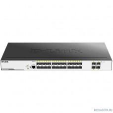 D-Link DGS-3000-28XS/B1A Управляемый коммутатор 2 уровня с 24 портами 1000Base-X SFP и 4 портами 10GBase-X SFP+