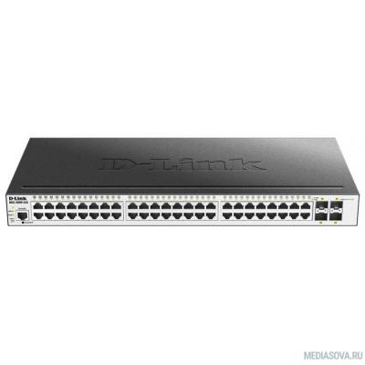 D-Link DGS-3000-52L/B1A Управляемый коммутатор 2 уровня с 48 портами 10/100/1000Base-T и 4 портами 1000Base-X SFP