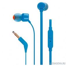 JBL T110 BLU 1.2м синий проводные