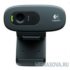 960-001063 Logitech HD Webcam C270, USB 2.0, 1280*720, 3Mpix foto, Mic, Black