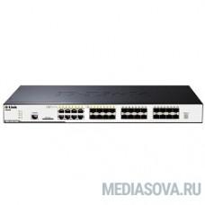 D-Link DGS-3120-24SC/B1AEI PROJ  Управляемый стекируемый коммутатор уровня 2+ с 16 портами 100/1000Base-X SFP, 8 комбо-портами 100/1000Base-T/SFP и 2 портами 10GBase-CX4