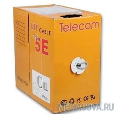 Telecom Кабель UTP кат. 5e 4 пары (305м) (0.40mm) CU серый [UTP4-TC1000C5EL-CU-IS]