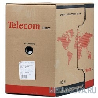 Telecom Кабель Ultra Base UTP кат.5e 2 пары (305м) (0.48mm) серый [TUS42048E]