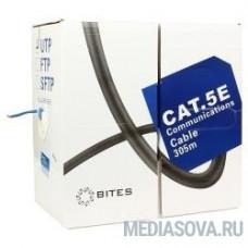 5bites US5505-305A(BL) Кабель  UTP / SOLID / 5E / 24AWG / CCA / PVC / BLUE / 305M