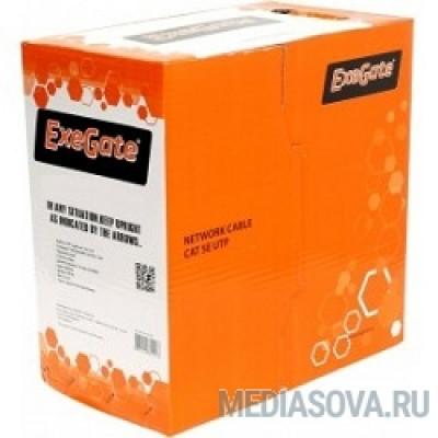 Exegate EX256747RUS Кабель UTP 4 пары кат.5e Exegate CCA, 24AWG, LSZH, бухта 305м, оранжевый