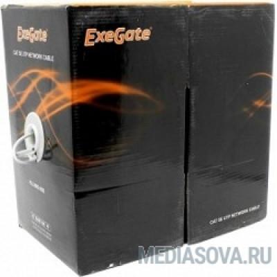 Exegate EX256748RUS Кабель UTP 4 пары кат.5e Exegate бескислородная медь,24AWG, FLUKE® test pass, бухта 305м, серый, PVC