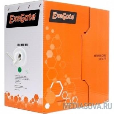 Exegate EX264556RUS Кабель UTP 4 пары кат.5e Exegate 100% медь, бухта 305м, серый, PVC
