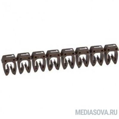 Legrand 038101 Маркер CAB 3 - для кабеля 0,15-0,5 мм3 - цифра 1 - коричневый