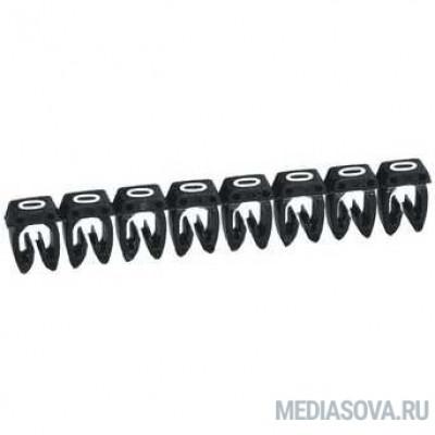 Legrand 038210 Маркер CAB 3 - для кабеля 0,5-1,5 мм3 - цифра 0 - чёрный