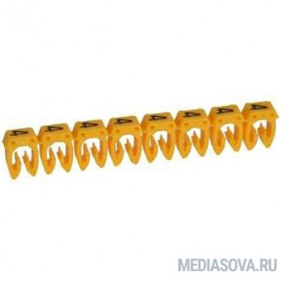 Legrand 038214 Маркер CAB 3 - для кабеля 0,5-1,5 мм3 - цифра 4 - желтый