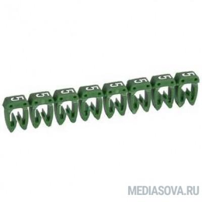Legrand 038215 Маркер CAB 3 - для кабеля 0,5-1,5 мм3 - цифра 5 - зеленый