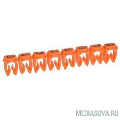Legrand 038223 Маркер CAB 3 - для кабеля 1,5-2,5 мм3 - цифра 3 - оранжевый
